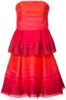 Carolina Herrera layered strapless dress