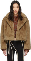 Stand Studio Brown Faux-Fur Janet Jacket