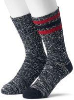 Croft & Barrow Men's 2-pack Slubbed Cold-Weather Crew Boot Socks