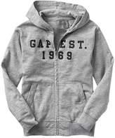 Gap Logo marled zip hoodie