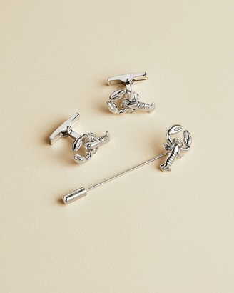 Ted Baker Lobster Cufflink And Lapel Pin Set