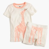 J.Crew Girls' pajama set in giraffe print