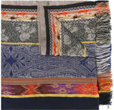 Etro frayed edge scarf
