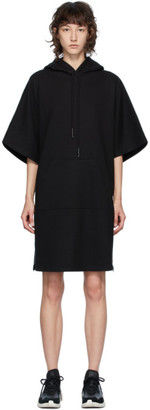McQ Black Swallow Flag Hoodie Short Dress