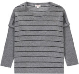 ZEF Cashmere striped Easy poncho Light grey