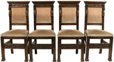 One Kings Lane Vintage 1890s Italian Renaissance-Style Chairs - Blink Home Vintique - brown