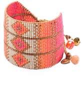 Mishky Rays Beaded Leather Slide Cuff Bracelet
