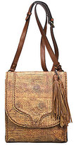 Patricia Nash Venetian Tooled Collection Brogi Tasseled Flap Cross-Body Bag