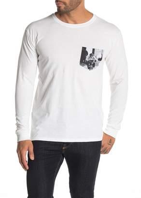 Altru Monkey Bike Graphic Pocket Long Sleeve T-Shirt