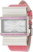 Salvatore Ferragamo Women's F69MBQ9791 S111 Renaissance Pink Genuine Lizard Leather Mother-Of-Pearl Diamond Watch