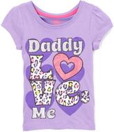 Children's Apparel Network Purple 'Daddy Loves Me' Tee - Girls