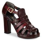 Robert Clergerie Snake-Embossed High Heel Sandals