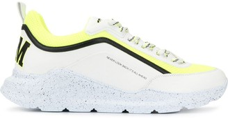 MSGM contrast panel sneakers