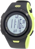 Soleus Men's SR010052 Ultra Sole Digital Dial with Black and Lime Green Polyurethane Strap Watch