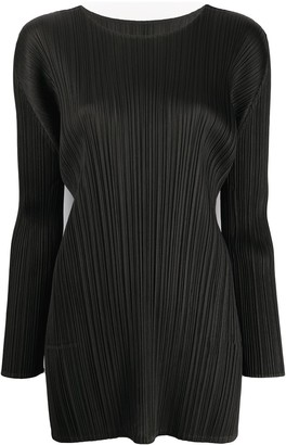 Pleats Please Issey Miyake pleated basic blouse