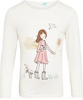 John Lewis Girls' Fairy Print T-Shirt, Gardenia