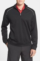 Cutter & Buck Men's Big & Tall 'Weathertec Ridge' Water Repellant Half Zip Jacket