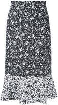 Le Ciel Bleu floral print midi skirt - women - Polyester - 38