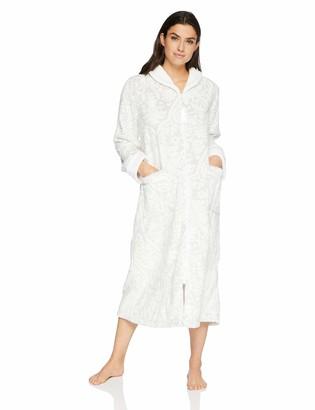 Aria Women's Embossed Chenille Ballet Zip Robe