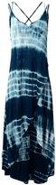 JayJay Company JayJay Women Long Tie Dye Print Spaghetti Strap Boho Loose Fit Maxi Dress,DEEPBLUE,2XL