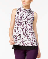 Alfani Floral-Print Chiffon-Hem Top, Created for Macy's