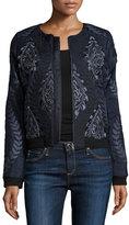 Parker Maverick Embellished & Embroidered Bomber Jacket, Midnight
