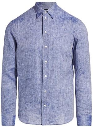 Emporio Armani Textured Linen Sports Shirt
