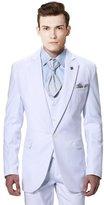 MYS Men's Custom Made Groomsman 1 Button Suit Vest Pants Set Pure Size 38R