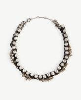 Ann Taylor Ribbon Chain Statement Necklace
