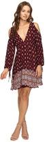 Brigitte Bailey Femi Border Print Cold Shoulder Dress