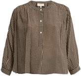 The Great The Wayfarer silk-gingham blouse