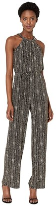 Calvin Klein Glitter Knit Jumpsuit (Black/Gold) Women's Jumpsuit & Rompers One Piece
