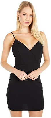 BCBGeneration Cocktail Surplice Cami Woven Dress - GEF6256834 (Black) Women's Dress