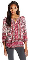 Lucky Brand Women's Floral Woodblock Peasant