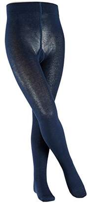Esprit Foot Logo Tights - Cotton Blend, Blue ( 6120), (Manufacturer size: 152-164), 1 Pair