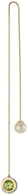 Delfina Delettrez 18kt Yellow Gold Fishing for Compliments Earring with Amethyst and Pearl