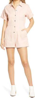 ALL IN FAVOR Oversize Button-Up Romper