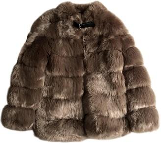 Ducie Beige Faux fur Coat for Women