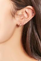 Forever 21 Cubic Zirconia Mini Hoop Earrings