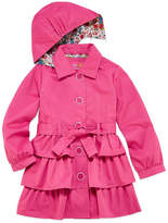 Pink Platinum Triple Tier Trench Raincoat