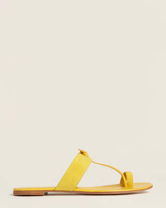 Gianvito Rossi Yellow Flat Suede Sandals