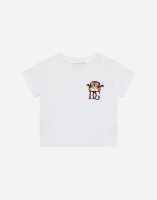 Dolce & Gabbana Jersey T-Shirt With Owlet Embroidery