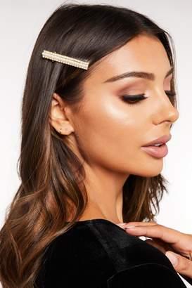 Quiz Gold Embellished Hair Clip