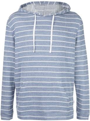 Onia Michael herringbone stripe hoodie