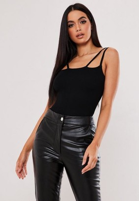 Missguided Double Skinny Strap Bodysuit
