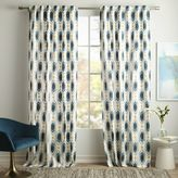 Cotton Canvas Ikat Gem Curtain - Blue Teal