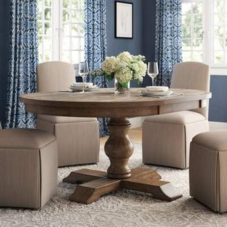 Laurèl Fortunat Extendable Dining Table Foundry Modern Farmhouse Color: Gray