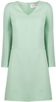 Valentino V-Neck Shift Short Dress