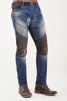 True Religion Rocco Skinny Moto Mens Jean