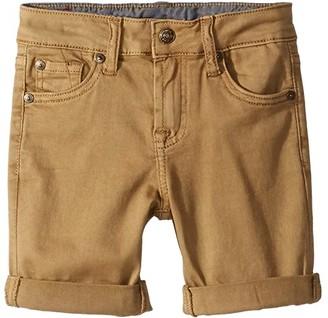 7 For All Mankind Kids Classic Five-Pocket Stretch Twill Shorts in Dark Khaki (Little Kids/Big Kids) (Dark Khaki) Boy's Shorts